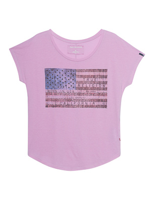 TRUE RELIGION T-Shirt American Flag Rose