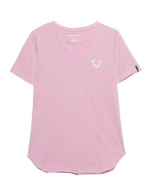 TRUE RELIGION V-Neck Reflective Pink