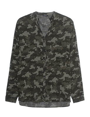 TRUE RELIGION Blouse Military Camo