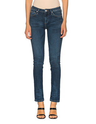 TRUE RELIGION New Halle Mid Rise Super Skinny Blue