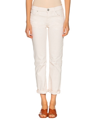 TRUE RELIGION Liv Gabardine Stretch Off White