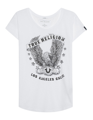 TRUE RELIGION Crew Relax Eagle White