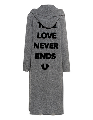 TRUE RELIGION True Love Never Ends Grey Melange