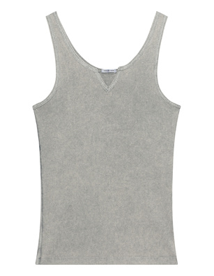 TRUE RELIGION V Neck Rib Grey