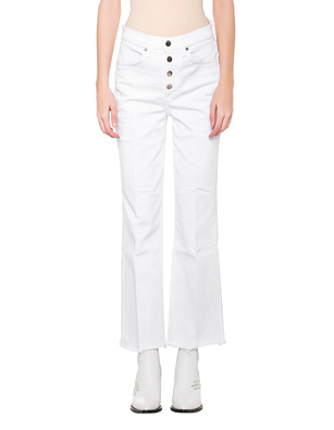 RAG&BONE Ankle Justine Button White