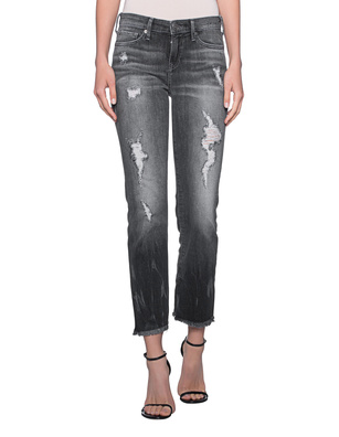 TRUE RELIGION Sara Ankle Zip Dark Chrome Anthracite