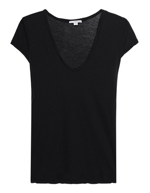 JAMES PERSE Deep V Neck Black