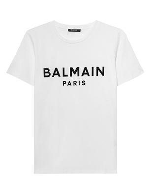 BALMAIN Printed Logo Black White