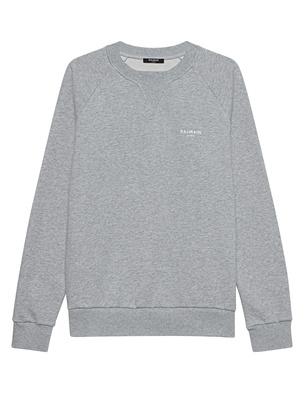 BALMAIN Sweat Logo Grey Melange