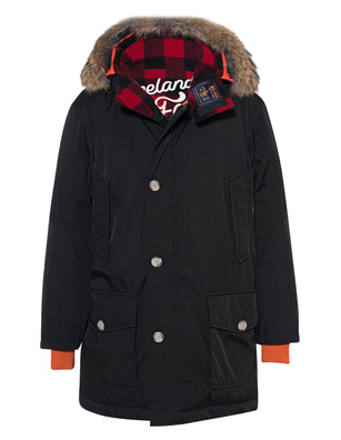 WOOLRICH Atlantic Fur Check Black