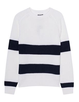 WOOLRICH Merinos Stripe White