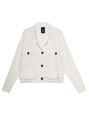 THOM KROM CROPPED PATCHWORK WHITE