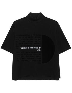 THOM KROM Flock Print Stretch Black