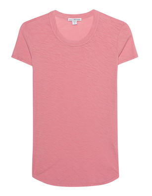 JAMES PERSE Sheer Slub Crew Tee Framboise