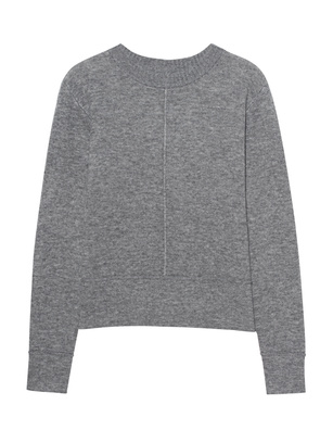 WOOLRICH Double Knit Crew Neck Grey