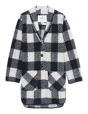WOOLRICH Gentry Coat Black White