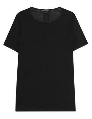 HANNES ROETHER Knit Cotton Sleeve Black