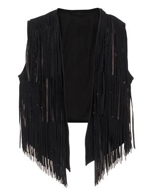 SLY 010 Soft velvet fringes Black