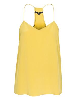 TIBI Signature Silk Cami Yellow Ochre