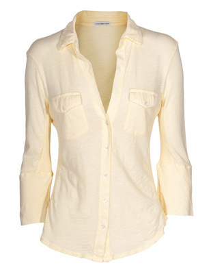 JAMES PERSE Sheer Slub Side Panel Yellow