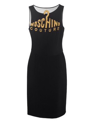 MOSCHINO Shift Gold Front Black