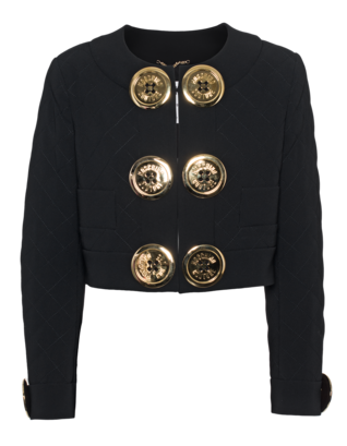 MOSCHINO Large Button Crop Black
