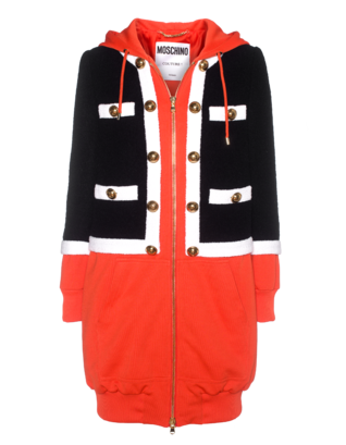 MOSCHINO Long Classy Hood Orange