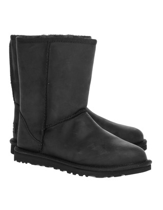 UGG Classic Short Leather Black