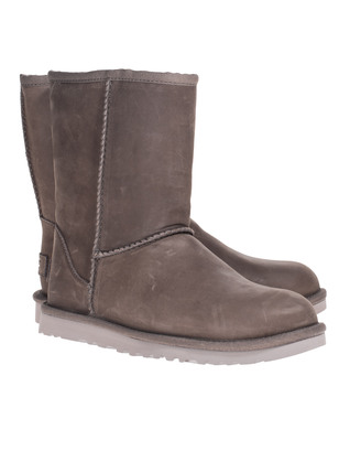 UGG Classic Short Leather Taupe