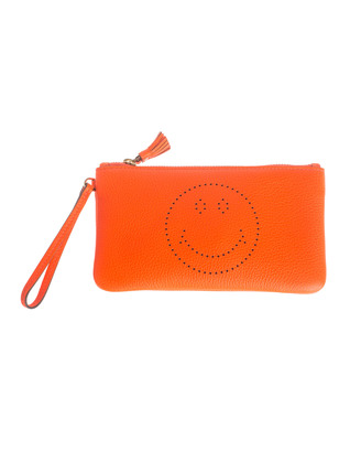 ANYA HINDMARCH Wristlet Smiley Orange