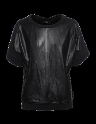 STEFFEN SCHRAUT Leather Rib Black