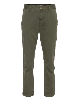 CURRENT/ELLIOTT The Cropped Buddy Trouser Army Green