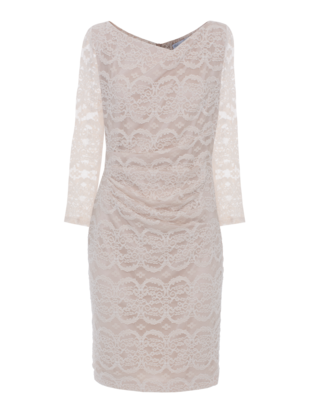 YOUNG COUTURE BY BARBARA SCHWARZER All-Over Dream Lace Nude