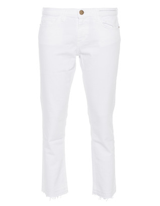 CURRENT/ELLIOTT Cropped Straight Leg White
