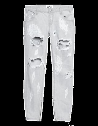 One Teaspoon Freebird Ice Grey