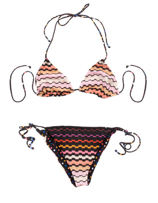 MISSONI Triangle Crochet Dotted Black Multi