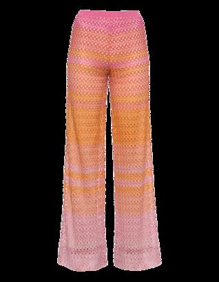 MISSONI Palazzo Crochet Orange Pink