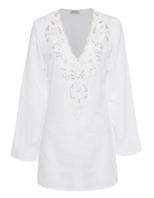 Malvin  Loose Summer Embroidery White