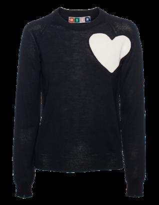 MSGM Heart Knit Short Black