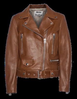 ACNE STUDIOS Mock Leather Biker Praline Brown