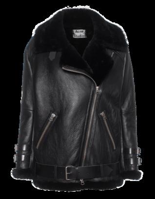 ACNE STUDIOS Oversize Velocite Leather Black