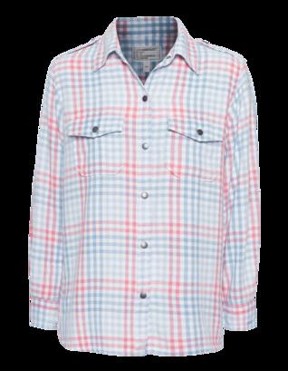 CURRENT/ELLIOTT The Perfect Shirt Indigo Mixed Gingham