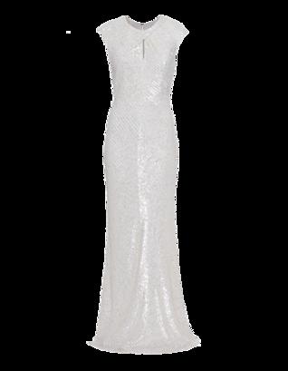BARBARA SCHWARZER Sparkling Sequins Crossed White