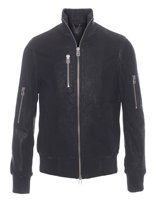 SLY 010 Structured Bomber Zip Black