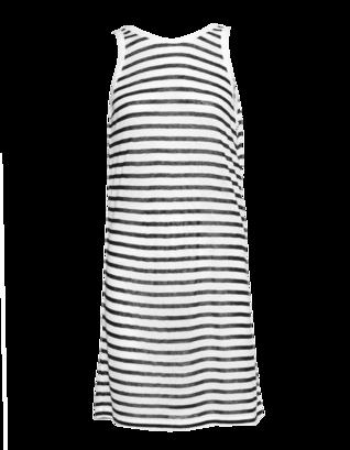 T BY ALEXANDER WANG Stripe Tank Mini Dark Blue And White