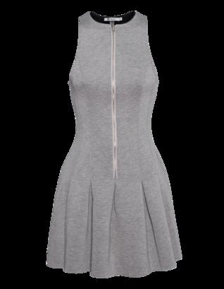 T BY ALEXANDER WANG Scuba Neoprene Dress Heather Grey