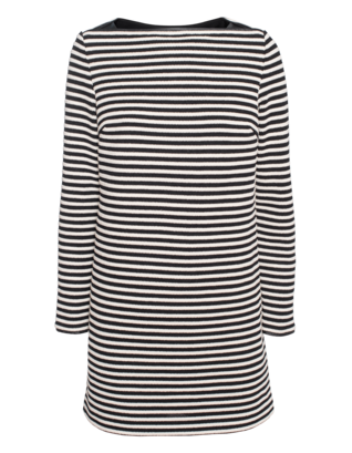 T BY ALEXANDER WANG Twisted Stripe Boatneck Black White