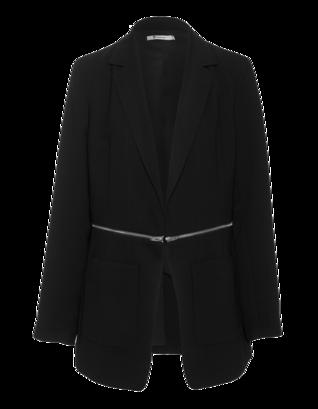 T BY ALEXANDER WANG Drape Suiting Zip Waist Black