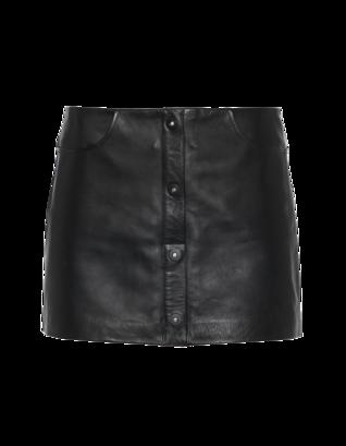 T BY ALEXANDER WANG Buttoned Sleek Black