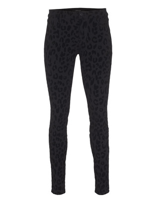 J BRAND 485 Mid-Rise Super Skinny Black Cat